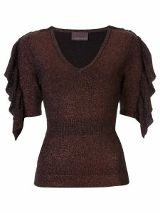 Ginger & Smart Revel glitter knit top - Black