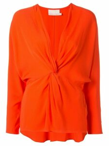 Ginger & Smart Orphic twisted-front top - ORANGE