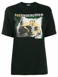 Sueundercover cat print T-shirt - Black