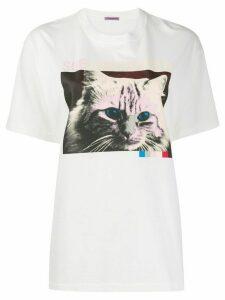 Sueundercover cat print T-shirt - White