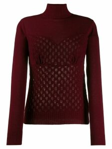Sueundercover patterned knit jumper - Red