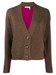 See By Chloé two-tone cardigan - Brown