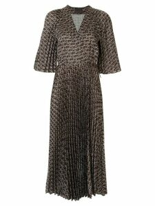 Ginger & Smart Chronicle sunray-pleated dress - Brown