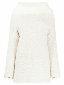 3.1 Phillip Lim two-texture ribbed roll neck jumper - Neutrals