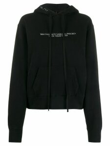 UNRAVEL PROJECT slogan print hoodie - Black