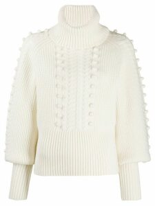 Temperley London Chrissie bobble knit sweater - White