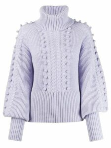 Temperley London Chrissie bobble knit sweater - PINK