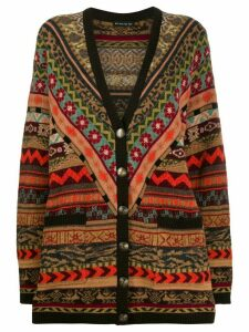 Etro pattern mix cardigan - Brown