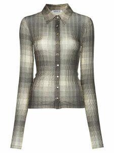 Supriya Lele graphic print mesh shirt - Grey