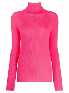 MSGM ribbed knit top - PINK