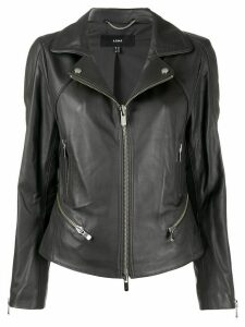 Arma slim-fit zip-up biker jacket - Grey