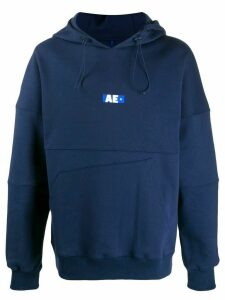 Ader Error AE asymmetric-pocket hoodie - Blue