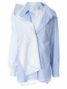 Ground Zero layered button shirt - Blue