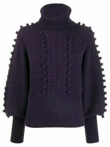 Temperley London Chrissie bobble knit sweater - PURPLE