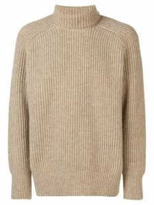 Ami Paris Rib Turtleneck Jumper - NEUTRALS