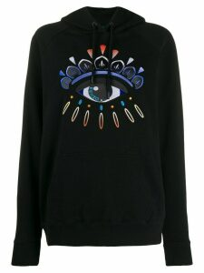 Kenzo Eye embroidered knitted hoodie - Black