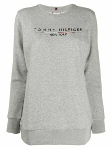 Tommy Hilfiger stripe sleeve sweatshirt - Grey