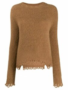 Tela scalloped hem jumper - NEUTRALS