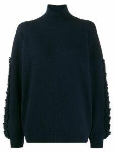 Barrie textured sleeves detail jumper - Blue