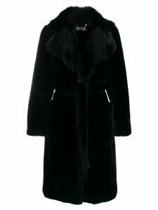 Desa 1972 oversized collar fur coat - Black