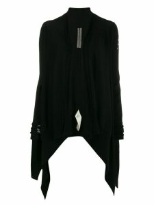 Rick Owens waterfall front cardigan - Black