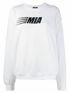 Mia-iam logo print relaxed-fit sweatshirt - White