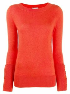 Snobby Sheep round neck slim-fit jumper - ORANGE