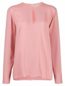 Stella McCartney split-sleeve keyhole blouse - PINK