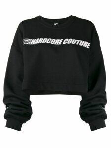 Mia-iam Super 25 cropped sweatshirt - Black