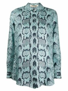 Roberto Cavalli snake-print blouse - Blue