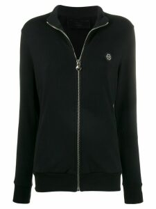 Philipp Plein logo tape sports jacket - Black