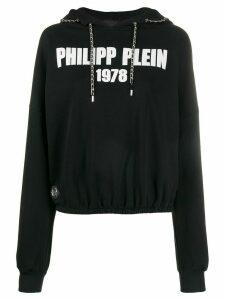 Philipp Plein chain-link logo hoodie - Black