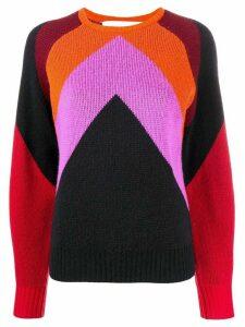 Victoria Victoria Beckham Intarsia chevron jumper - PURPLE