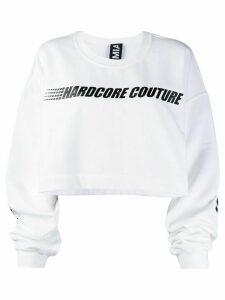 Mia-iam Super 25 cropped sweatshirt - White
