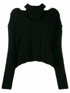 MRZ cut out knitted jumper - Black
