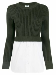Kenzo jumper and shirt combination top - White