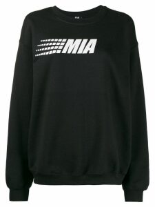 Mia-iam logo print relaxed-fit sweatshirt - Black