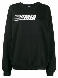 Mia-iam logo print relaxed-fit sweatshirt - Black