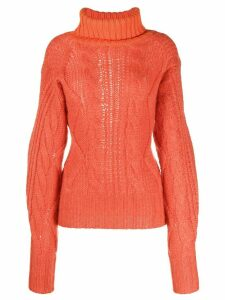 Aalto cable knit jumper - ORANGE