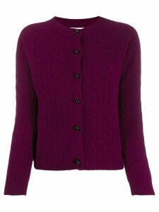 Erdem Jayelle cashmere fitted cardigan - Purple