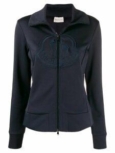 Moncler logo sports jacket - Blue