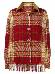 Etro checked shirt jacket - Red