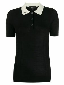 Rochas knitted polo top - Black