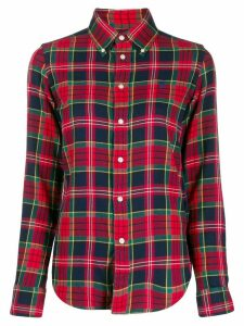 Ralph Lauren plaid logo embroidered shirt