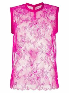 Philosophy Di Lorenzo Serafini sheer lace top - PINK