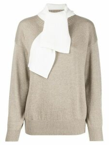 See By Chloé pussy bow sweater - Neutrals