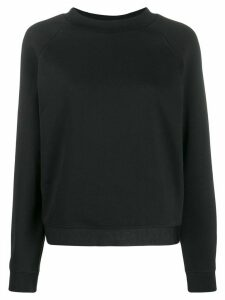 Emporio Armani logo hem sweatshirt - Black