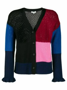 Kenzo colour block buttoned cardigan - PINK