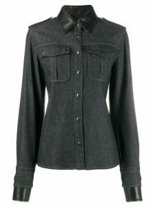 Tom Ford panelled denim shirt - Black