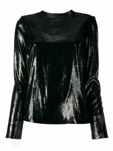 Philosophy Di Lorenzo Serafini shimmer lace cuff top - Black